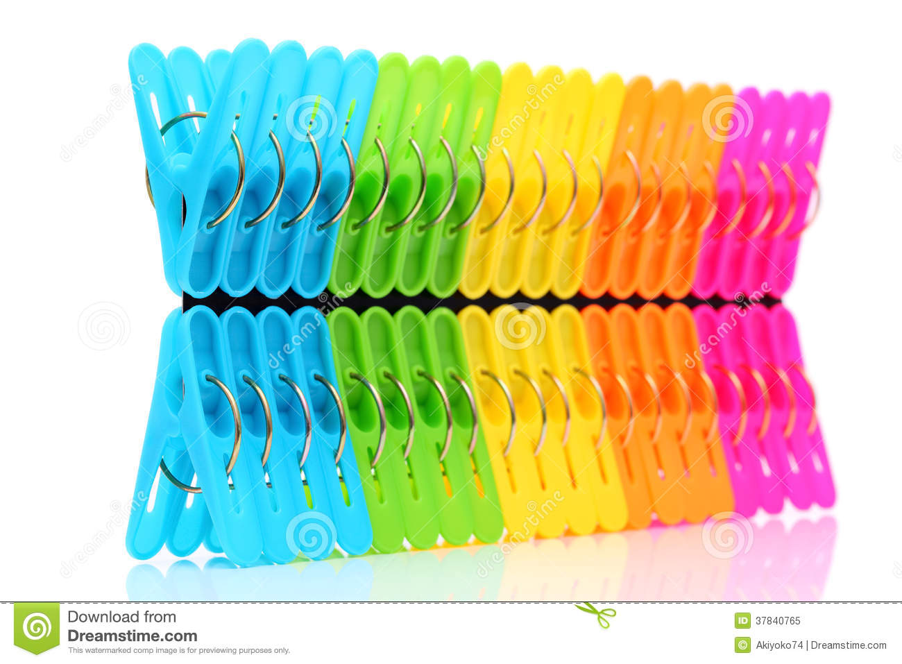 Colorful Plastic Clothespin Stock Image