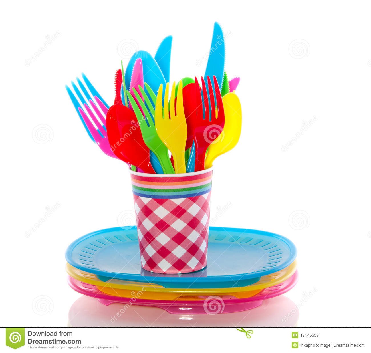 Colorful Plastic Cutlery Royalty Free Stock Photography