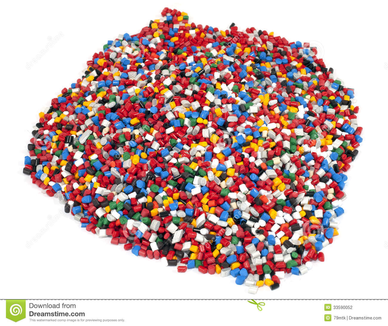 Colorful Plastic Polymer Granules Stock Photo Image Of