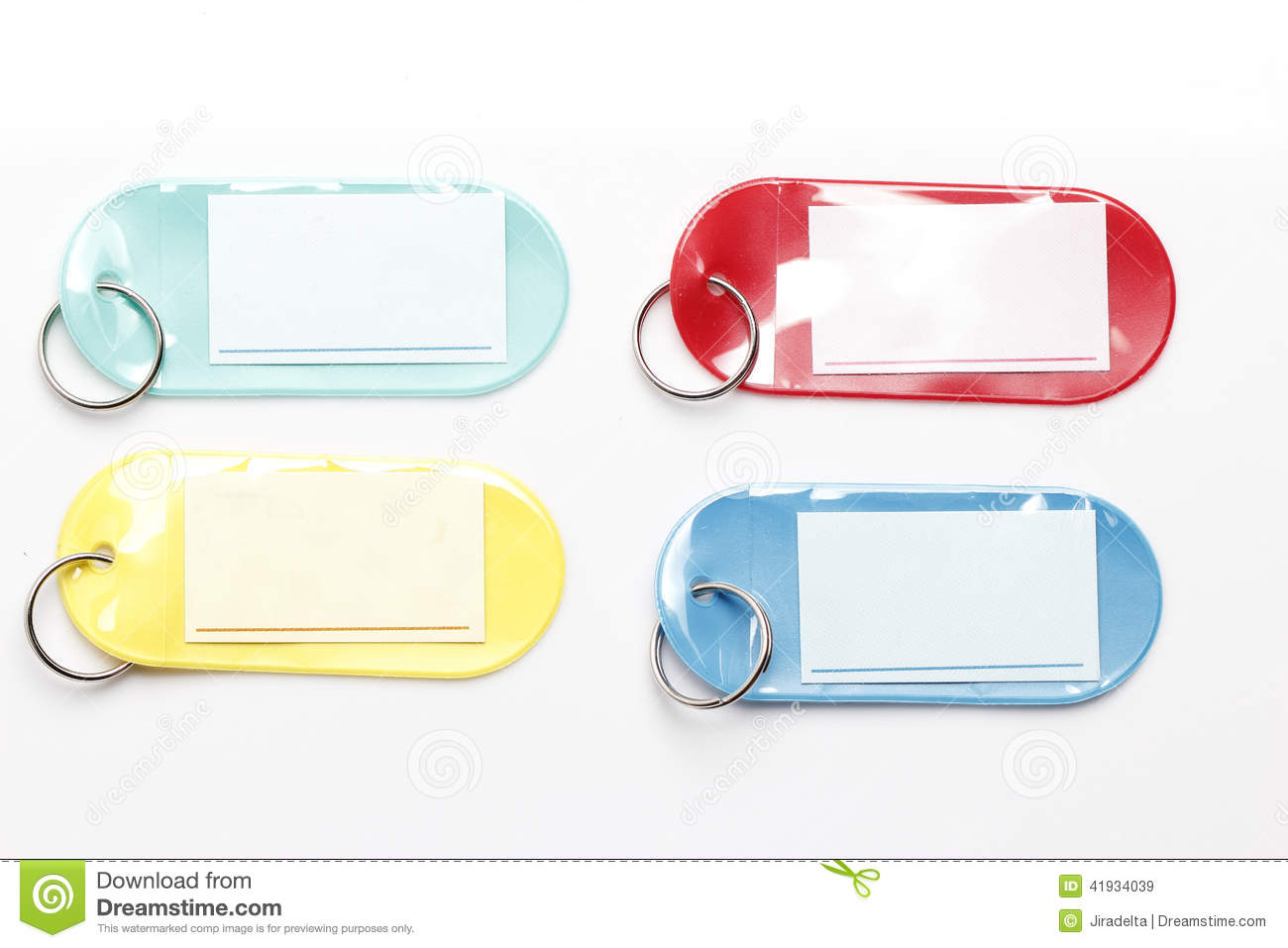 Colorful Plastic Tags stock image  Image of baggage, luggage