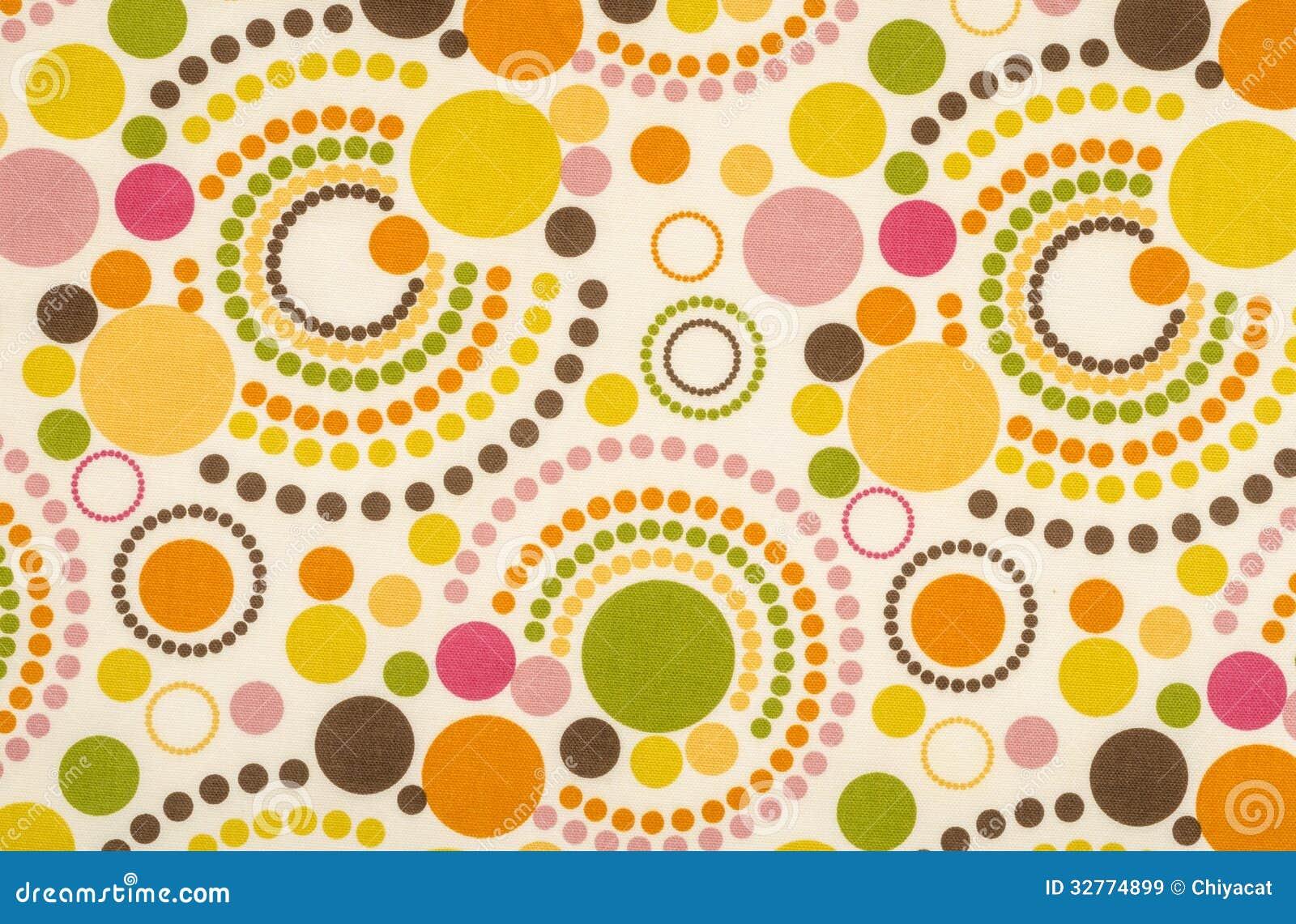 Colorful Polka Dot Fabric Royalty Free Stock Images - Image: 32774899