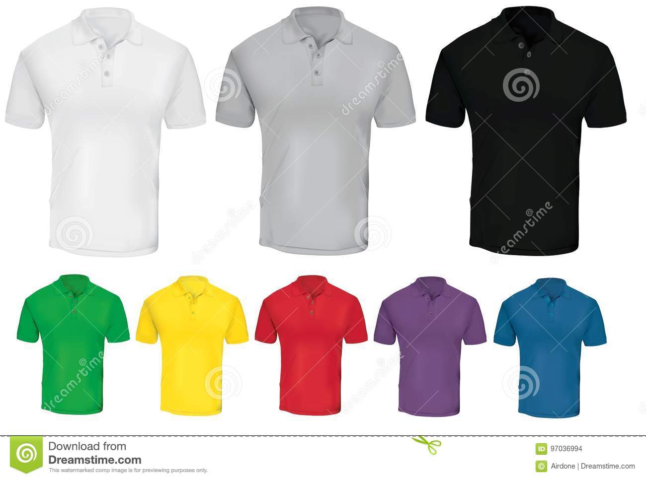 Colorful Polo Shirt Template Stock Illustration - Illustration of ...