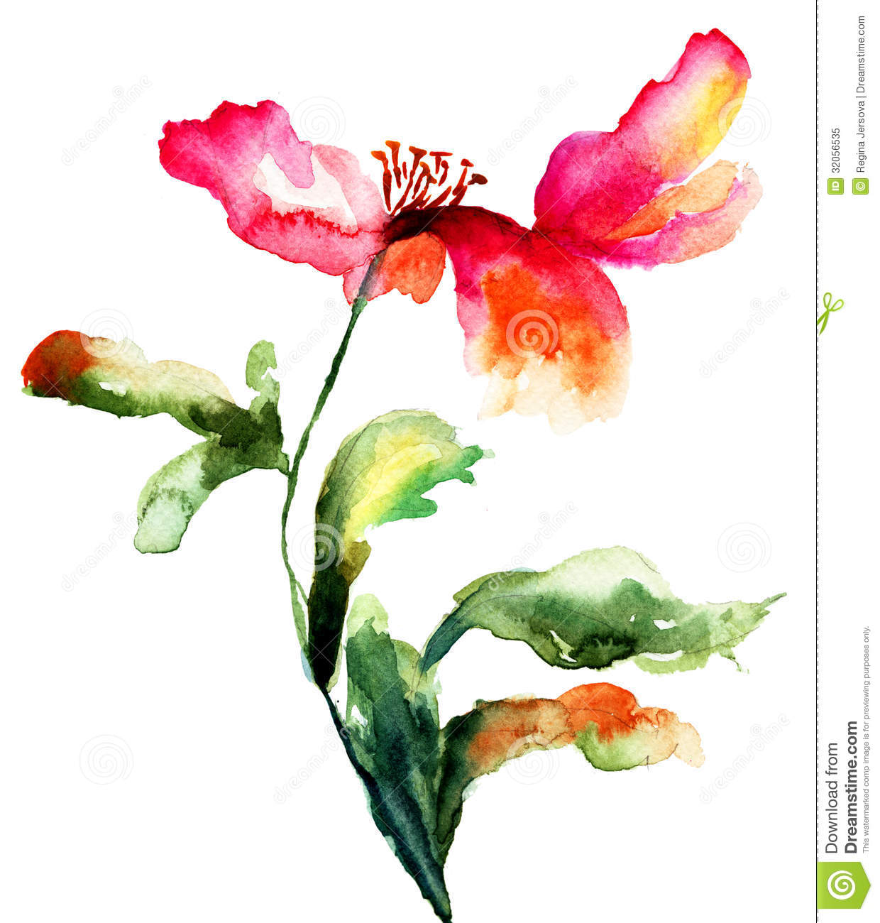 Colorful poppy flower stock illustration illustration of retro colorful poppy flower mightylinksfo