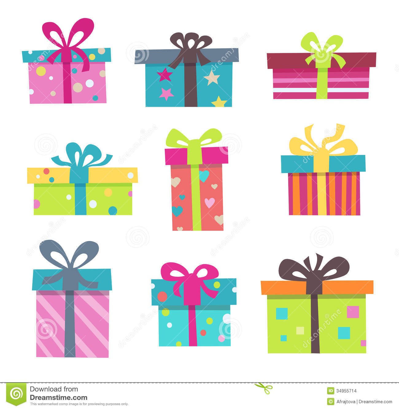 Colorful Presents Stock Vector Illustration Of Icon