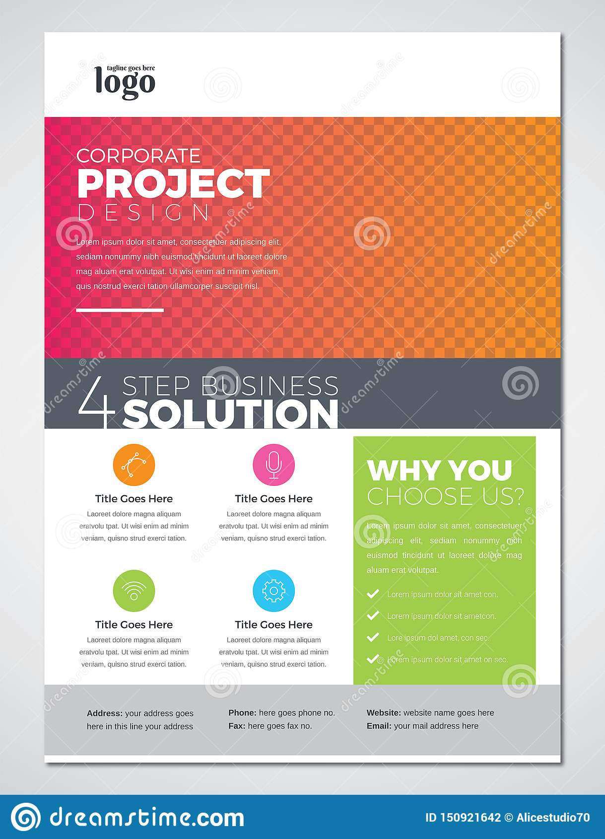 Colorful Print Ready Business Flyer Design Template