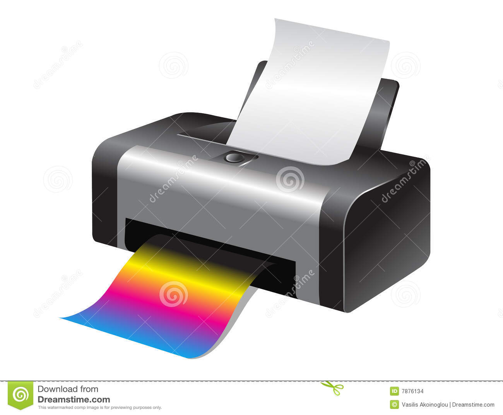 Colorful printer stock vector. Illustration of black ...