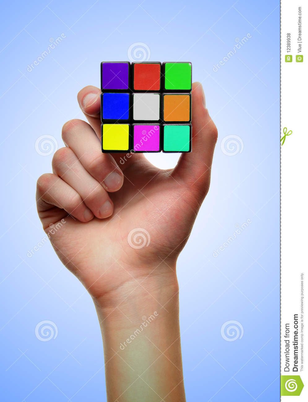 colorful problem solving puzzle cube editorial stock photo