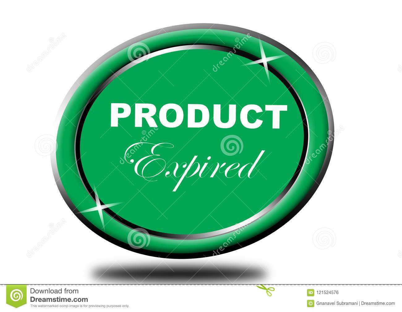 Colorful Product Expired Web Button Click, Application Stock