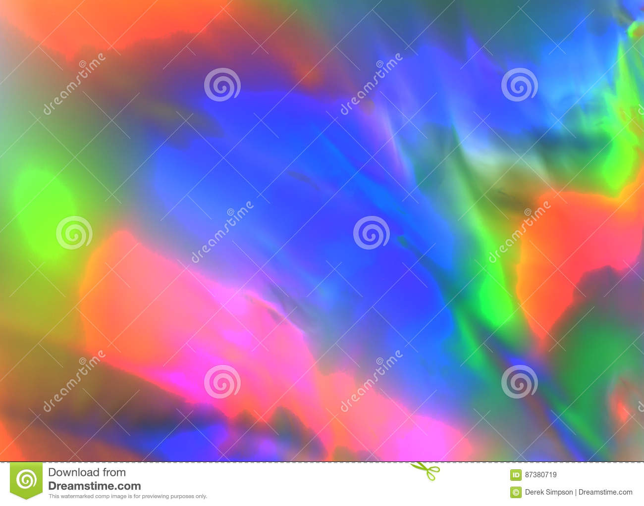Colorful psychedelic abstract showing stress distribution in plastic