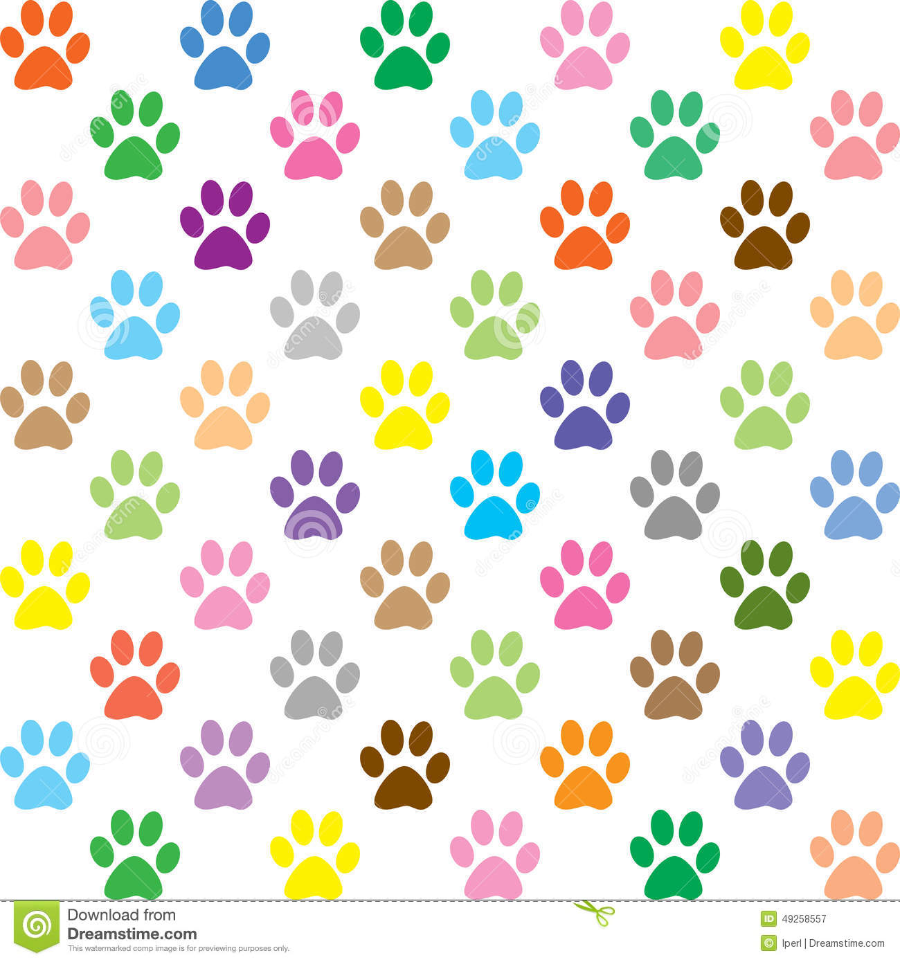 colorful puppy paws pattern stock illustration illustration of background  colorful 49258557 dog paw clip art outline dog paw clip art outline