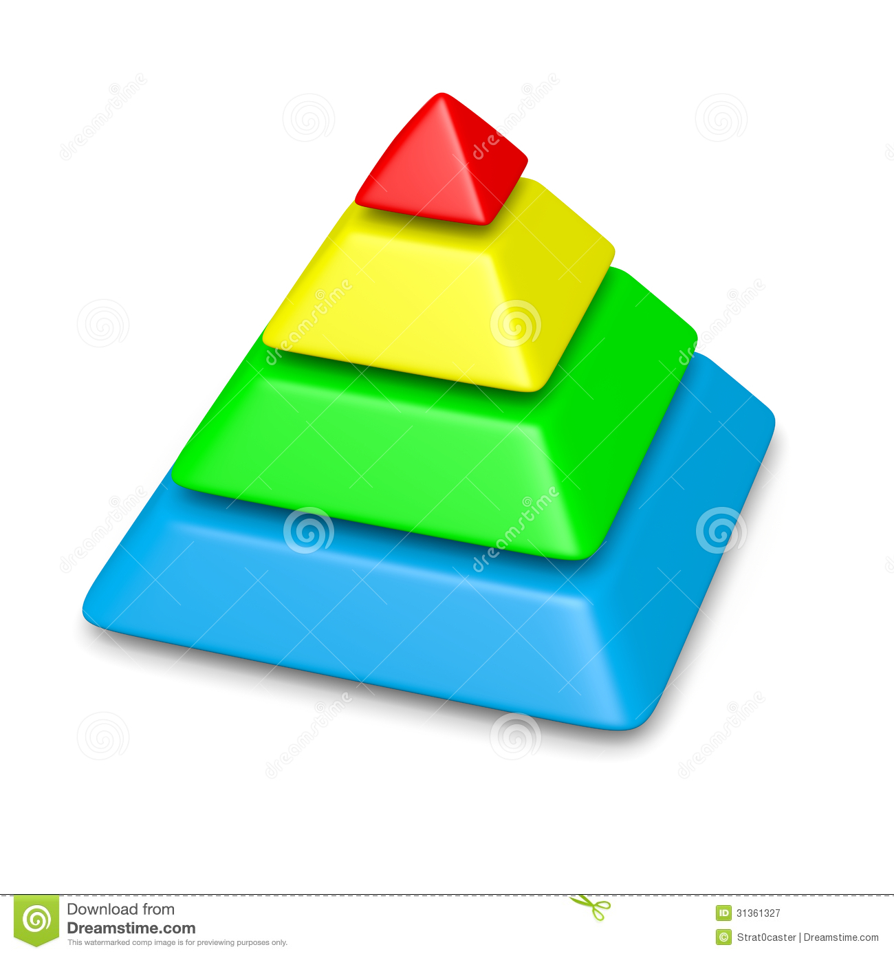 3d Floor Plans Colorful Pyramid 4 Levels Stack Stock Illustration Image