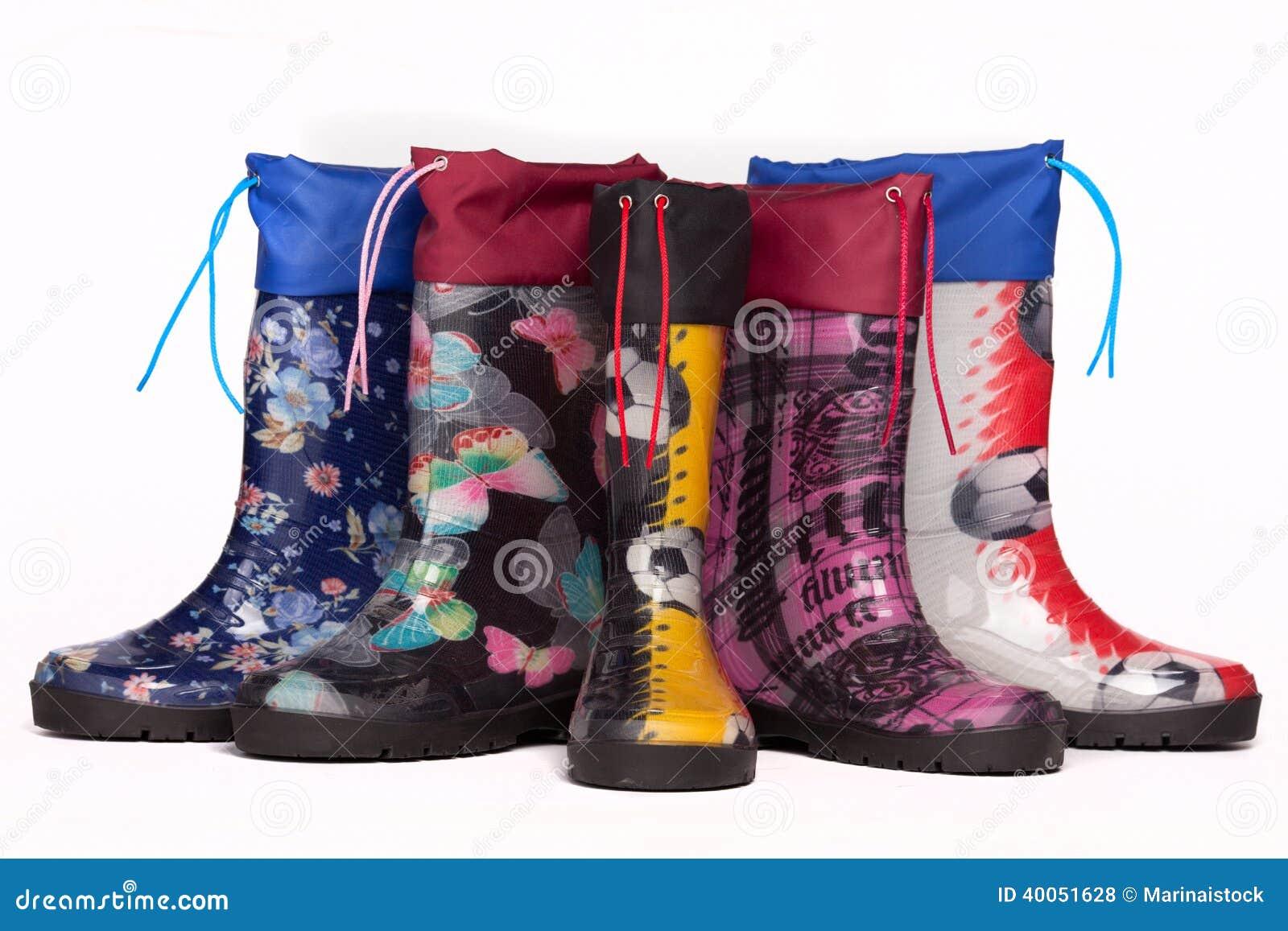 Colorful Rain Boots Stock Photo - Image: 40051628