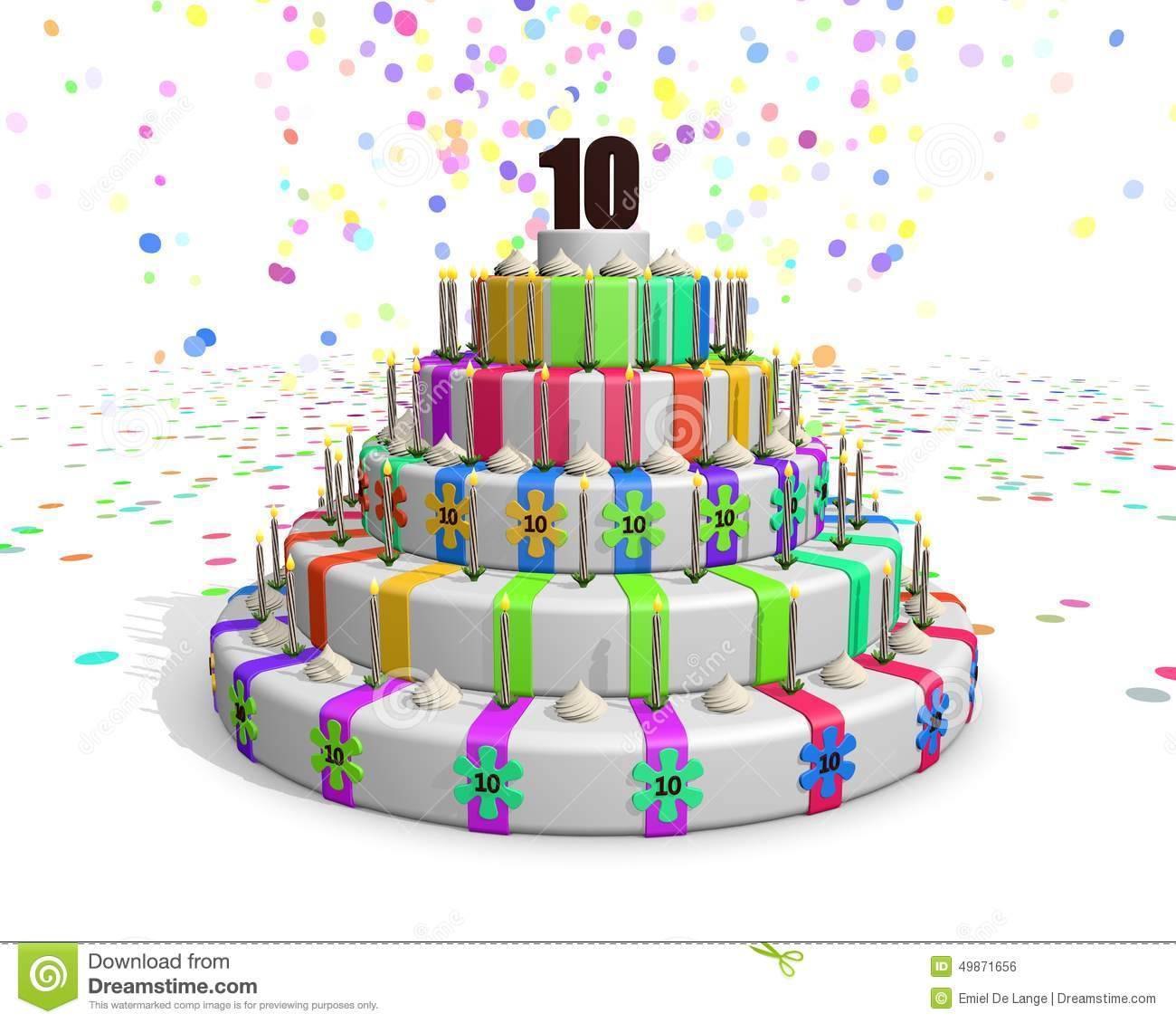 Draw Floor Plans App Colorful Rainbow Cake With On Top A Chocolate Number 10