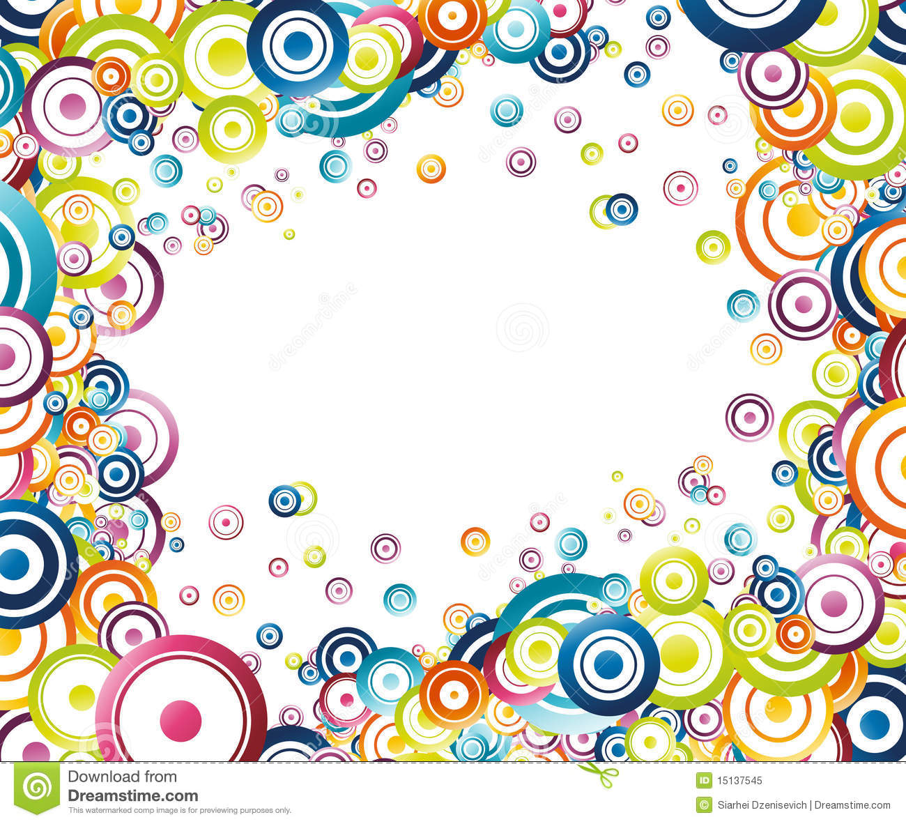 Colorful rainbow frame stock vector. Illustration of layout - 15137545