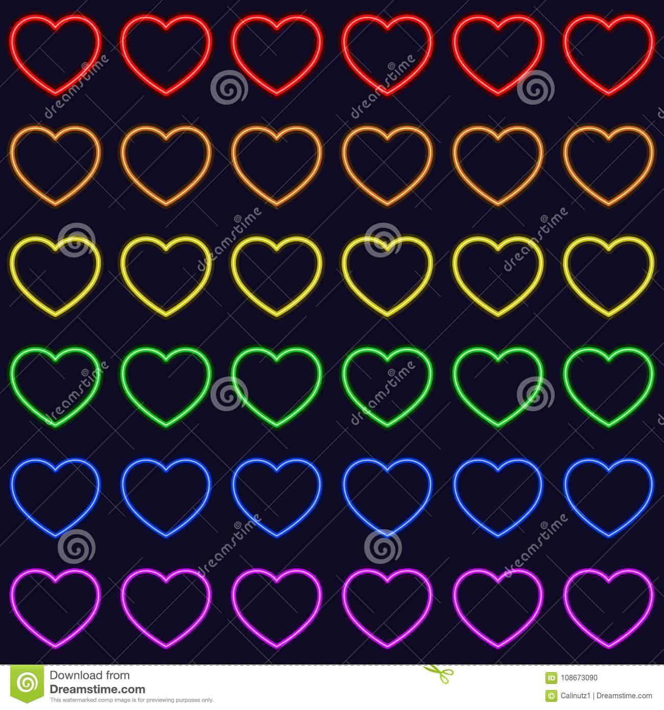 Colorful Rainbow Hearts Seamless Repetitive Vector Pattern Texture Background Stock Vector Illustration Of Card Texture 108673090
