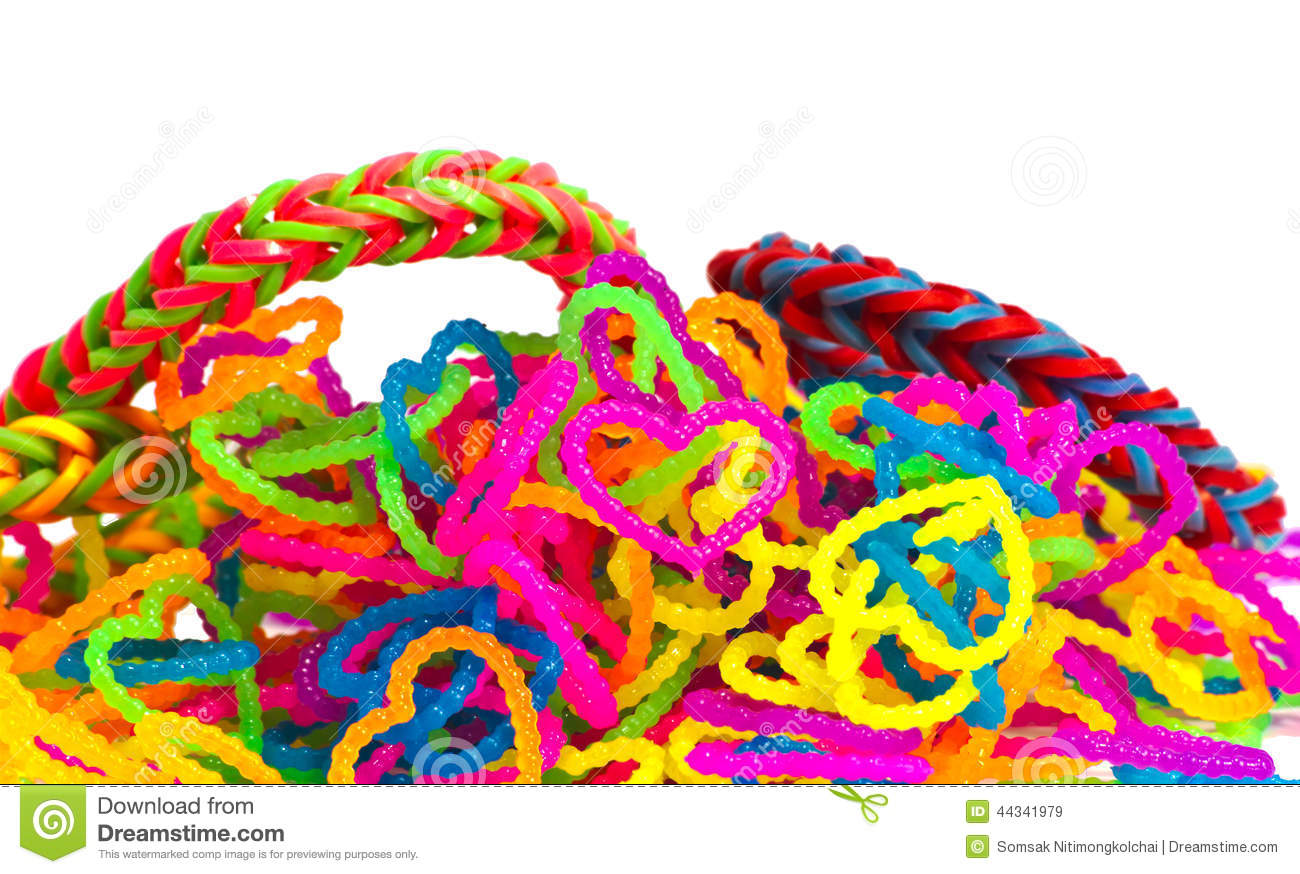 pencil rainbow loom colorful background image stock white photo elastic bands with