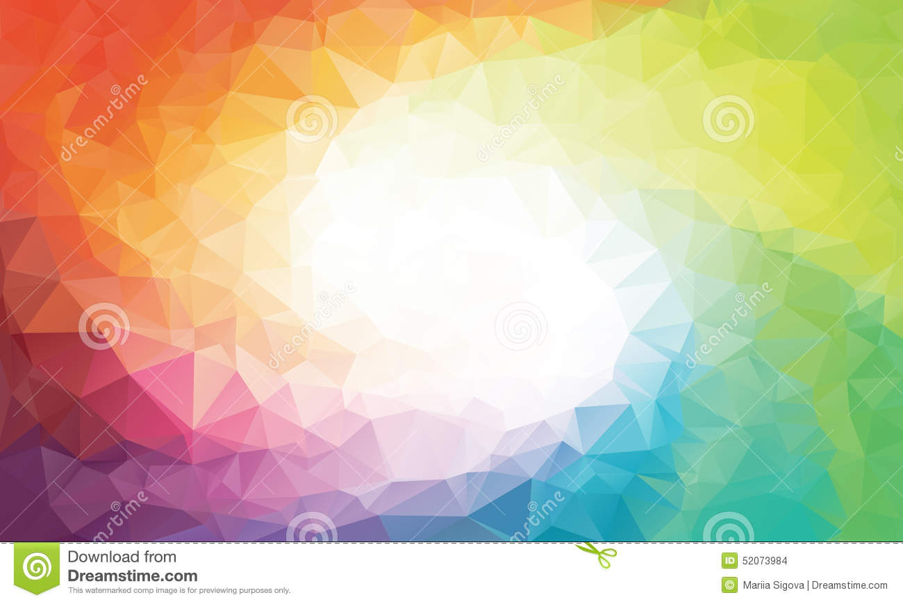 Colorful rainbow polygon background or vector