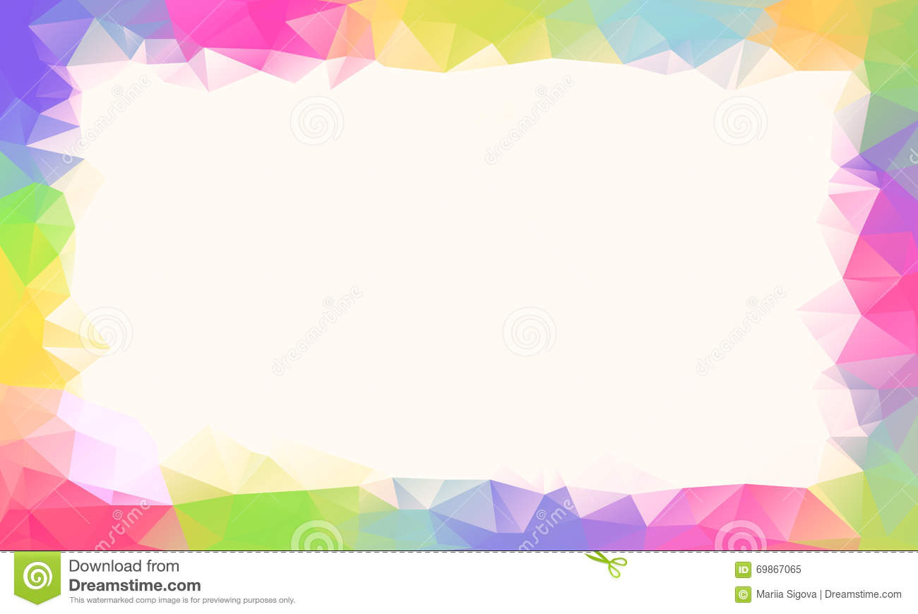 Color Abstract Vector Background Text Frame Stock Vector: Colorful Rainbow Polygon Background Or Vector Frame Stock