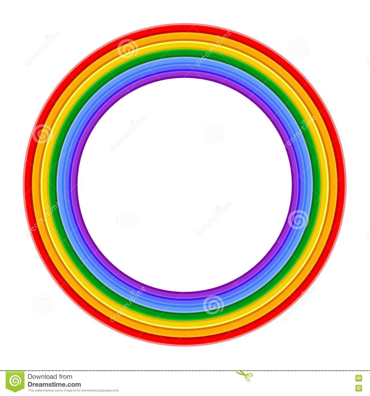 Colorful Rainbow ring Vector Illustration