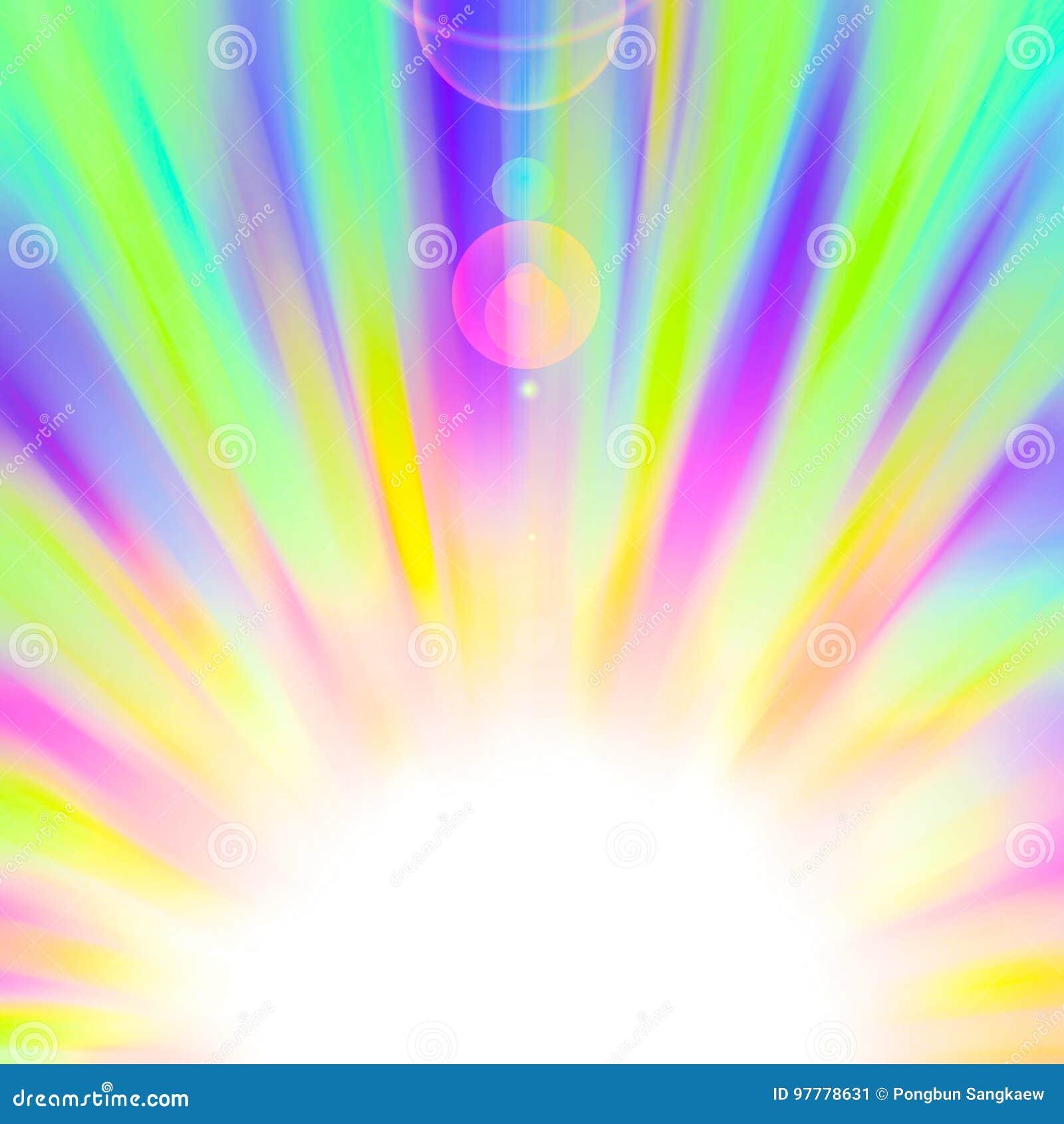 Colorful Rainbow Sunburst Gay Pride Template Banner