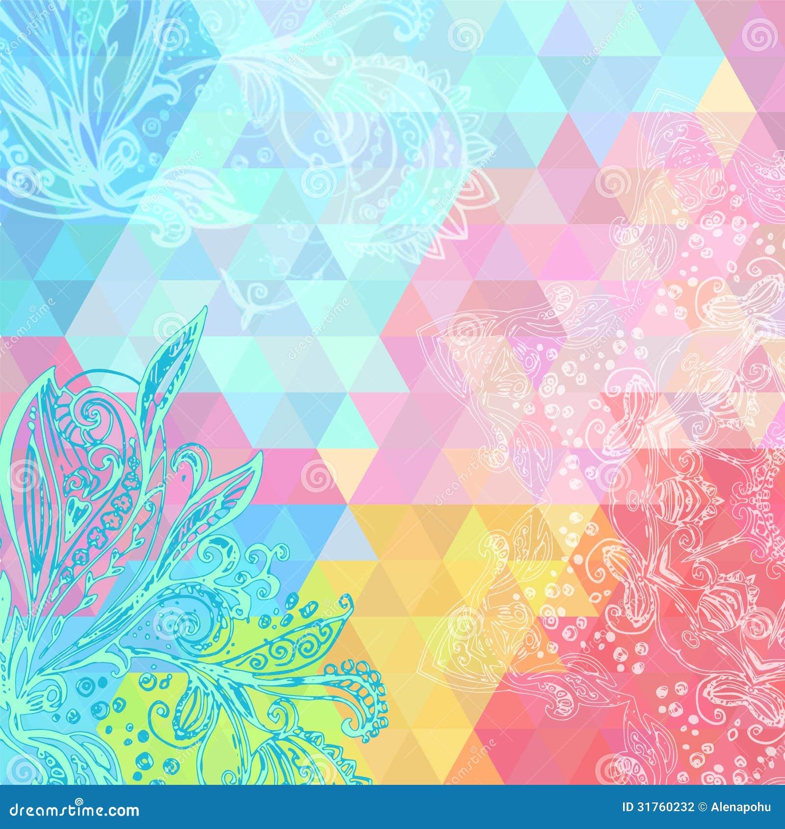 Colorful Rainbow Triangular Background Stock Photography ...