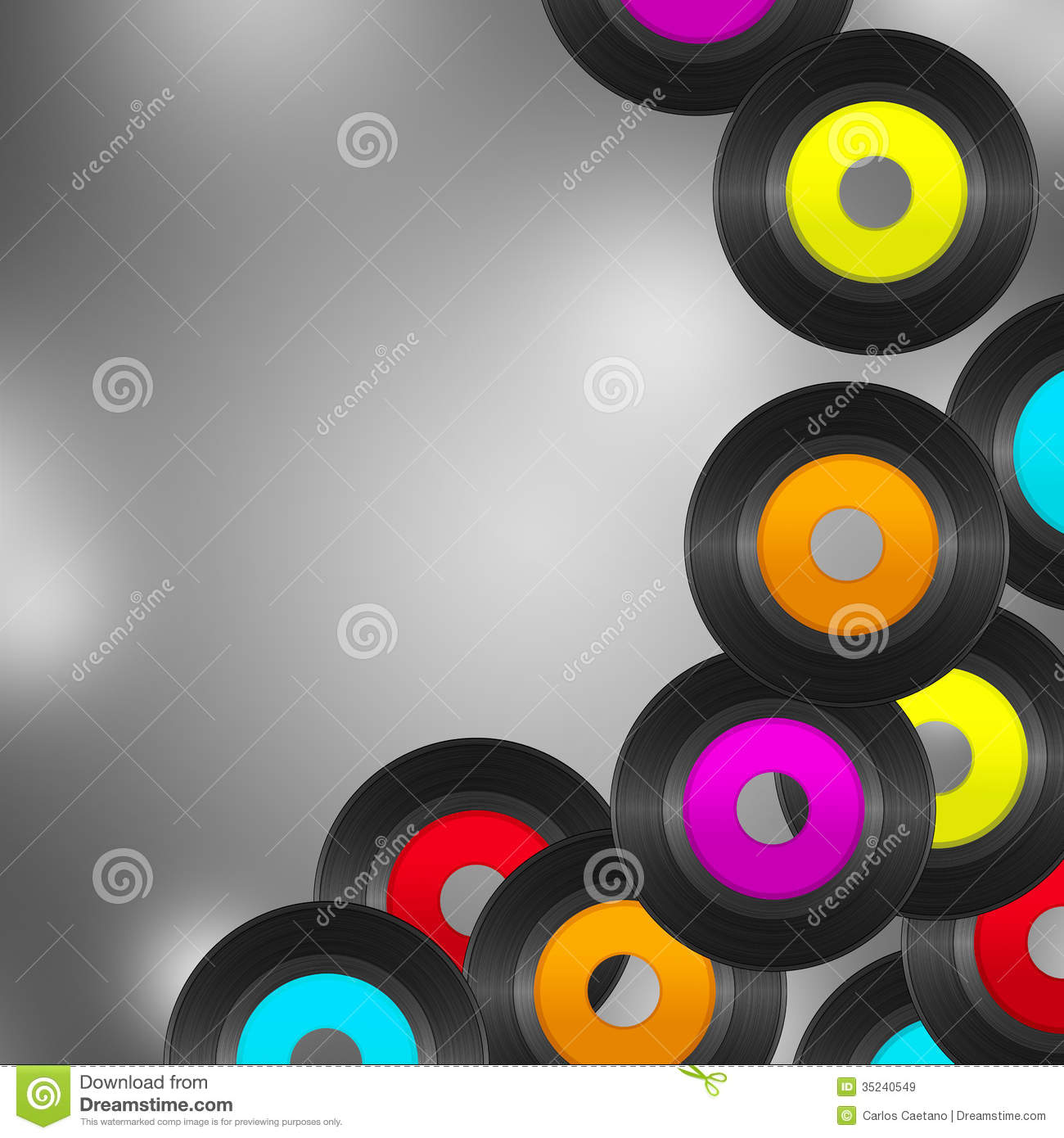 Colorful Records Royalty Free Stock Images Image 35240549