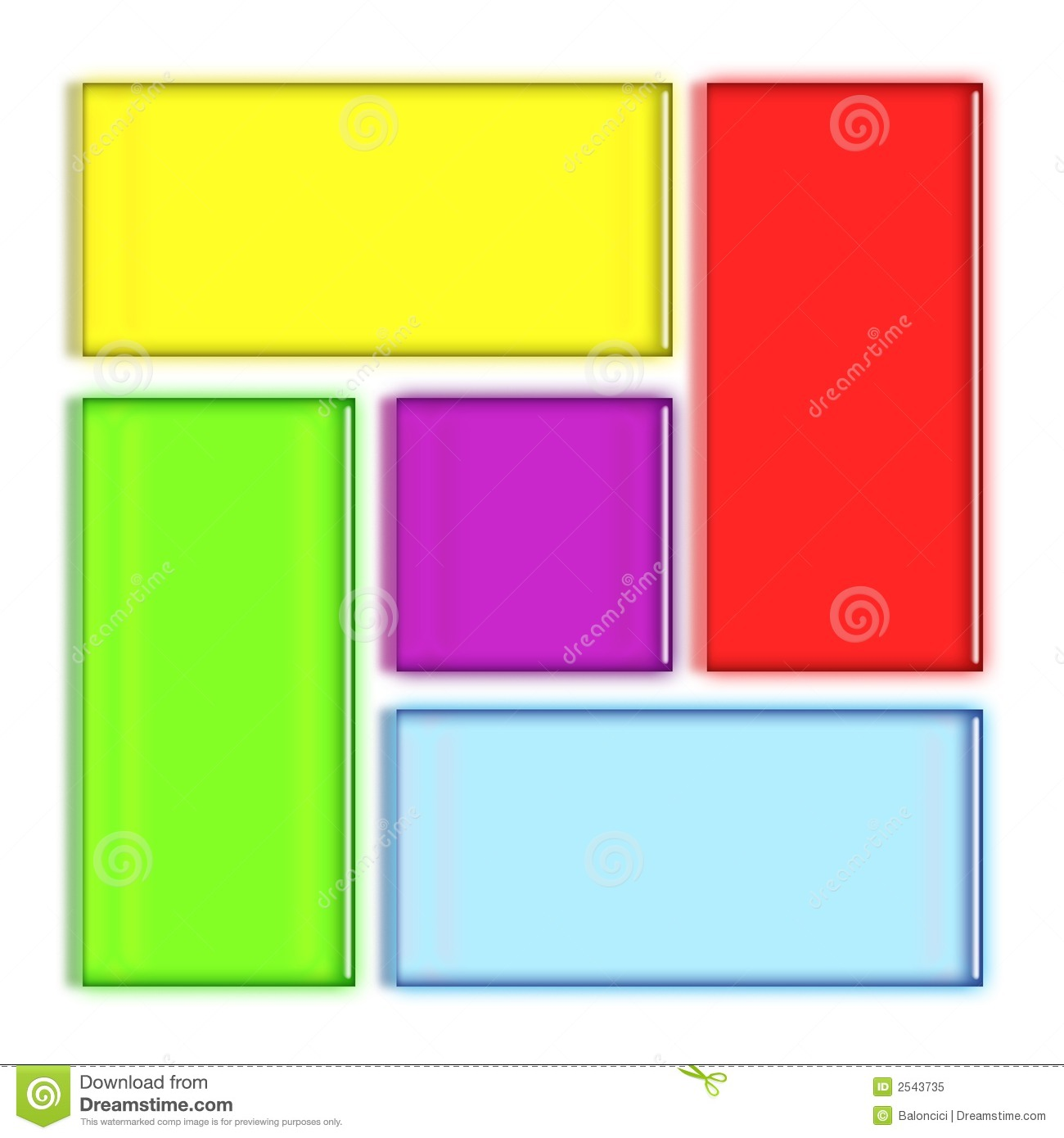 Colorful Rectangles Royalty Free Stock Photo - Image: 2543735