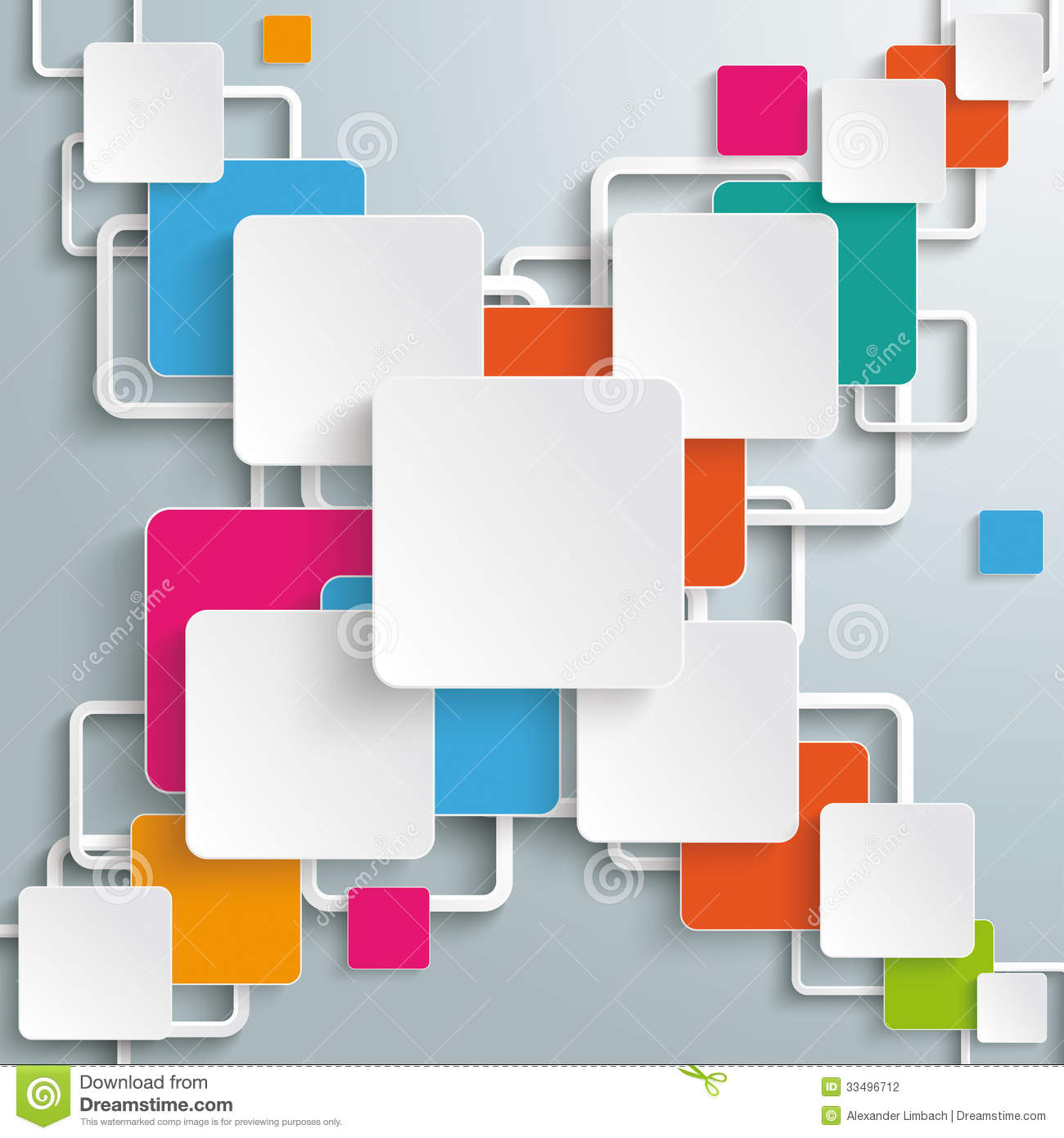Infographic design on the grey background eps 10 vector file - Colorful Rectangles Squares Cross Design Stock Photography
