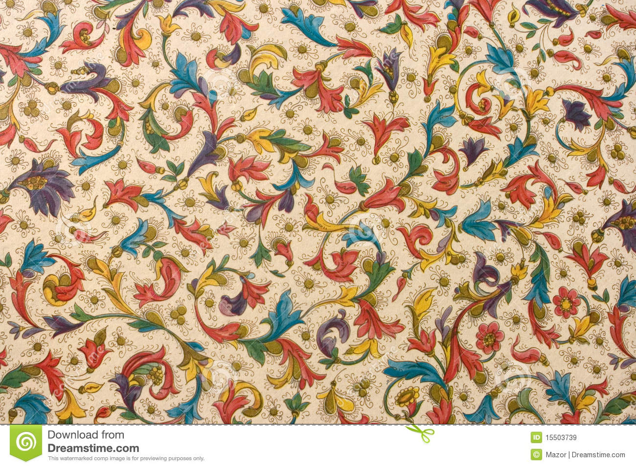 Download Colorful Retro Tapestry Textile Pattern Stock Image - Image of motif, adorned: 15503739