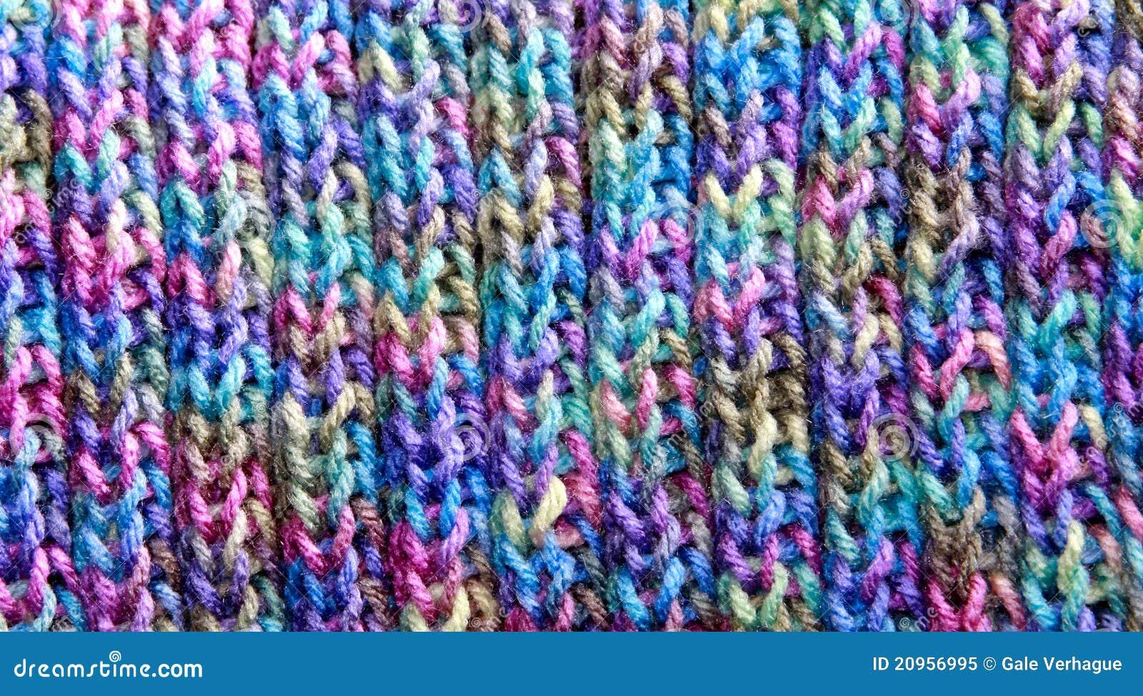 Colourful Knitting Patterns : Colorful Rib Stitch Knit Pattern Royalty Free Stock Photo - Image: 20956995