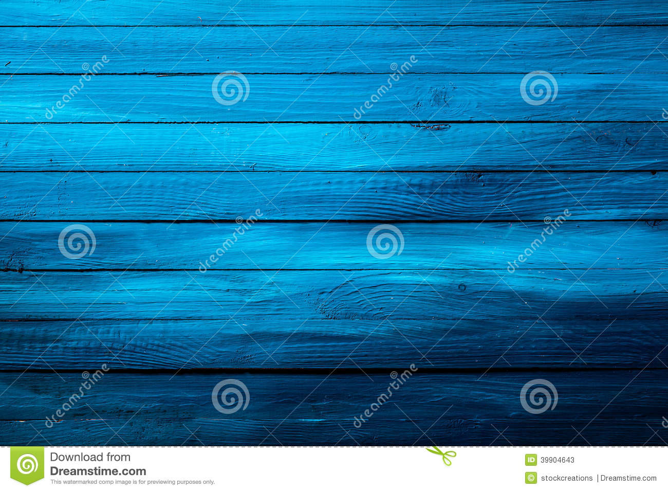 Colorful Rich Blue Wooden Background Texture Stock Photo