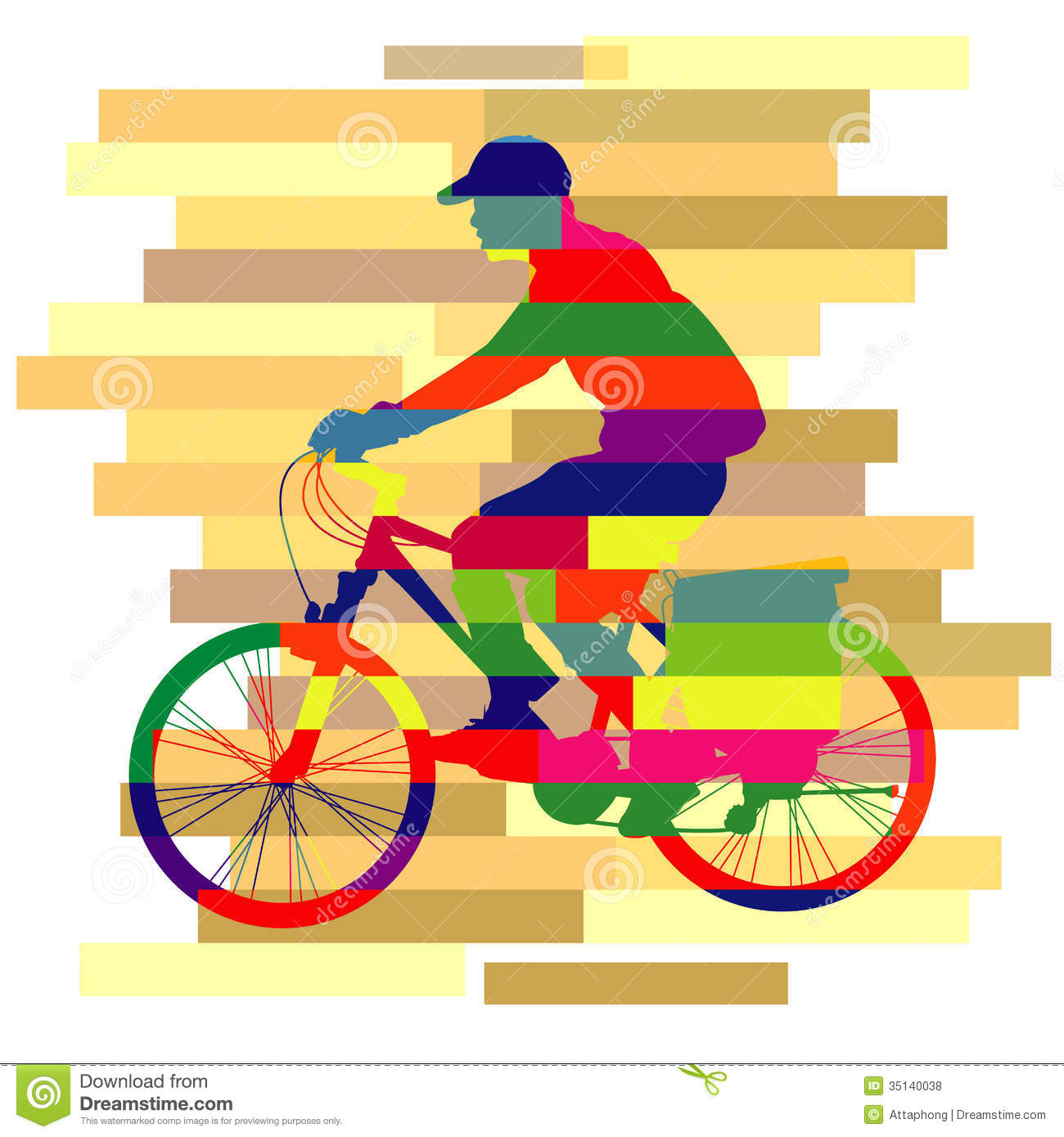 Colorful Of Ride Bicycle Vector Royalty Free Stock Photos ...