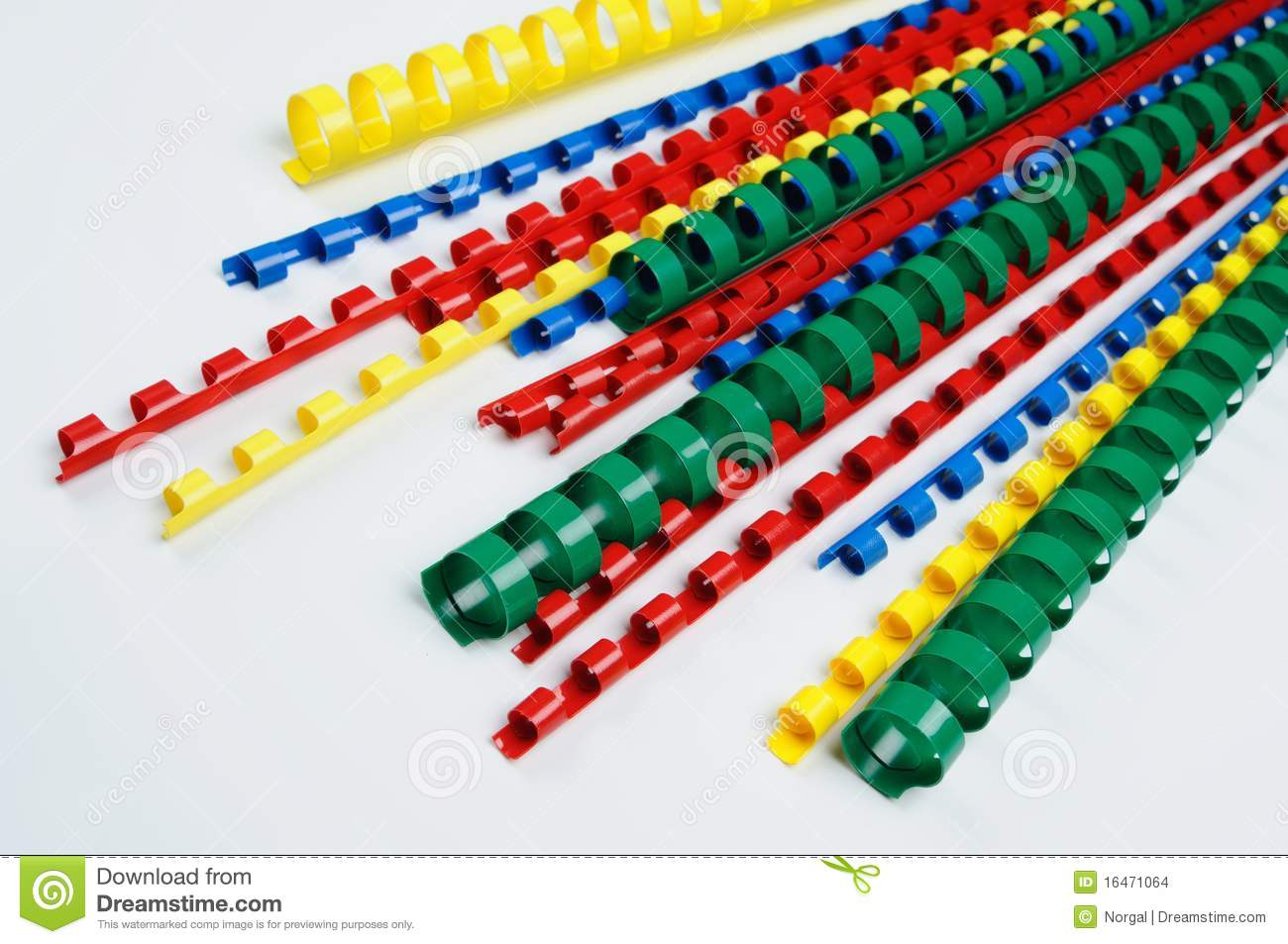 colorful ring binding spine stock photo image of multi yellow