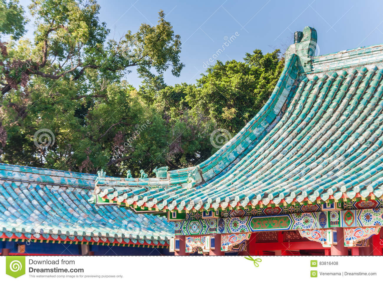 Colorful roof of the Koxinga Shrine in Tainan