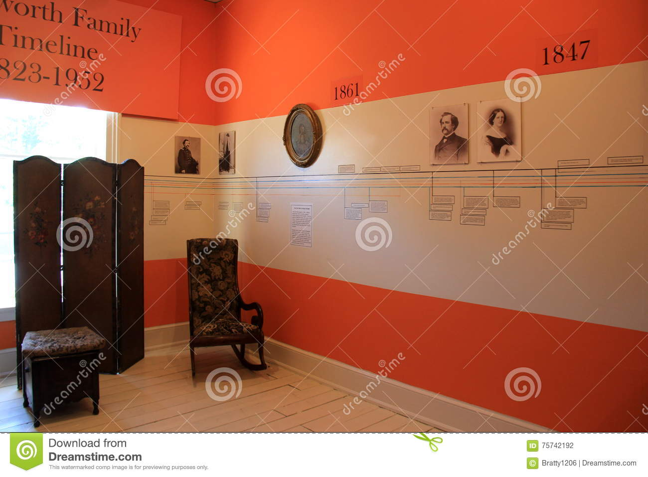 Colorful Room Covered With Timeline Of Important Walworth Family ...