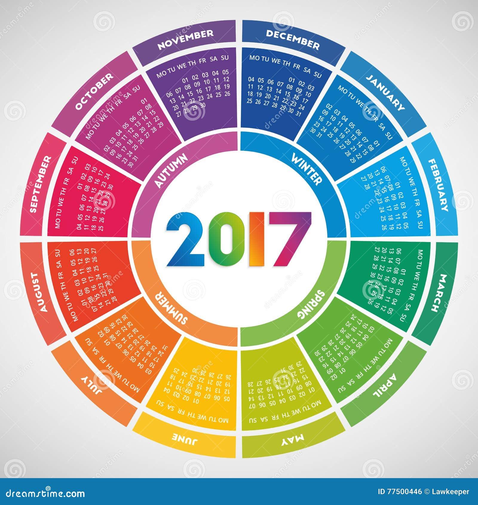 4 month calendar template
