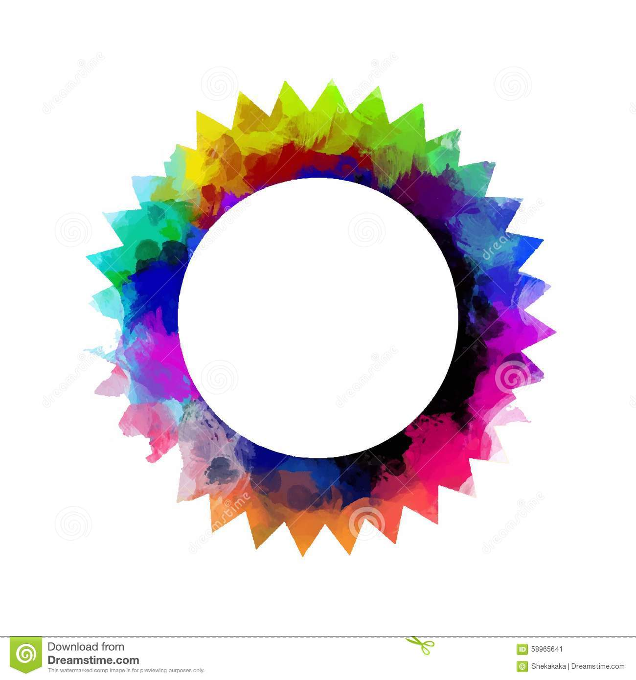 Colorful Round Frame Stock Vector Image 58965641