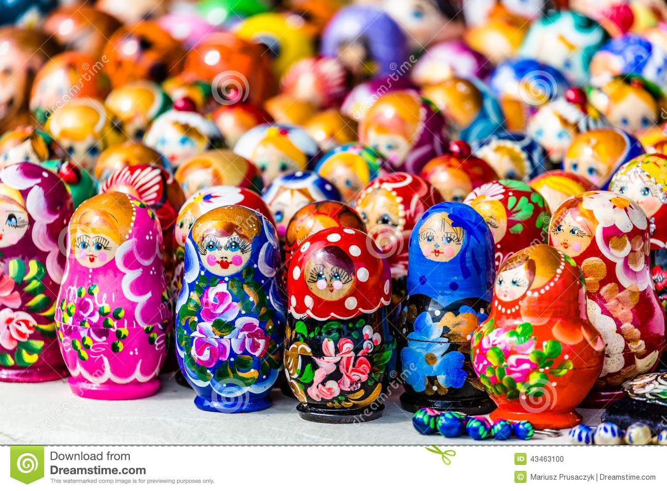 painted russian toy matrioshka vector illustration 48415208. Black Bedroom Furniture Sets. Home Design Ideas
