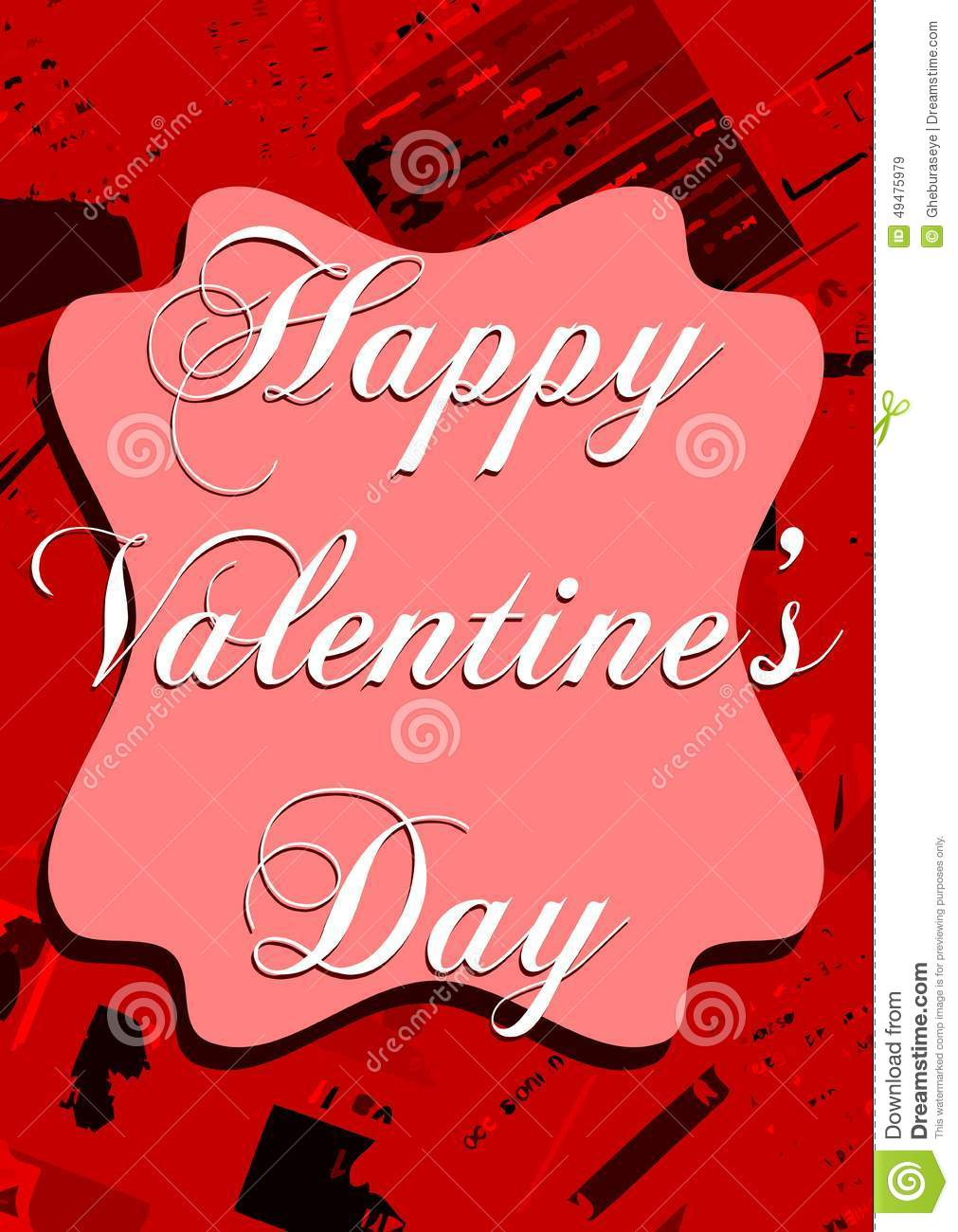 Colorful saint valentines day greeting card stock illustration an idea that can be used in all saint valentines day greeting cards m4hsunfo