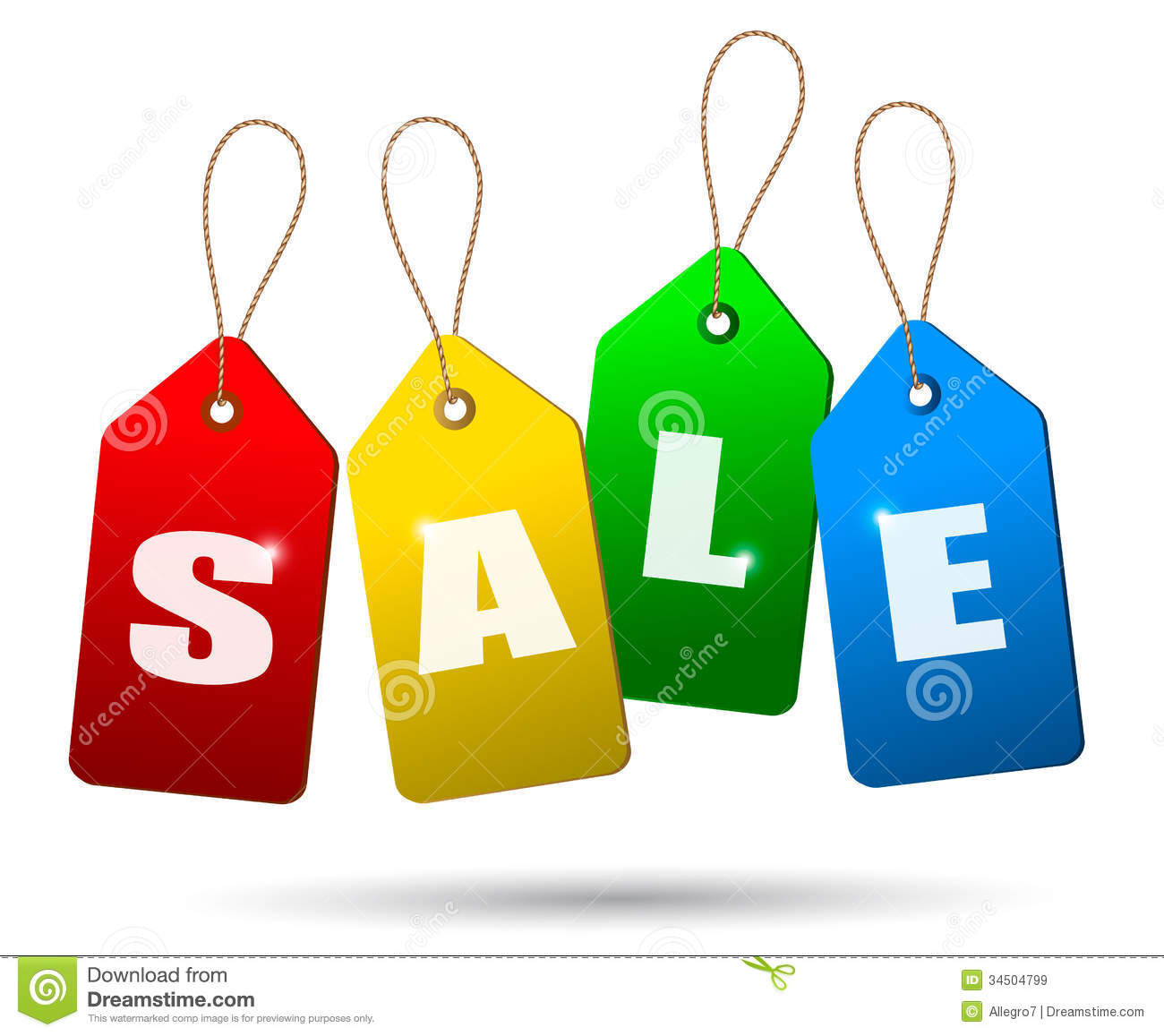 Royalty Free Stock Images: Colorful sale tags. Concept of discount ...