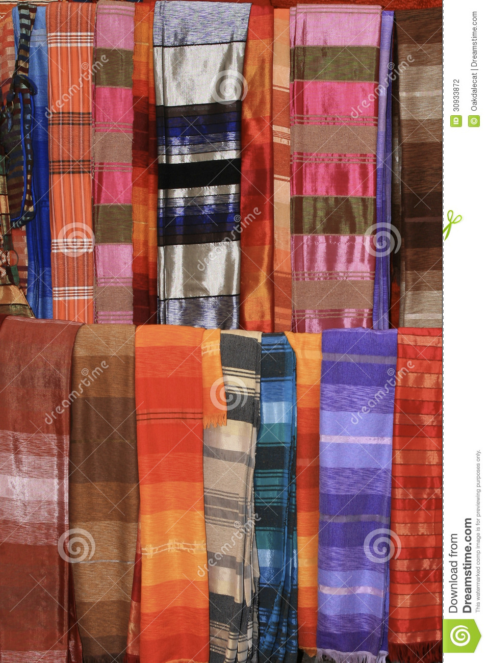 Colorful scarves of essaouira morocco stock photography image 30933872 - Tissus bohemes colores ...