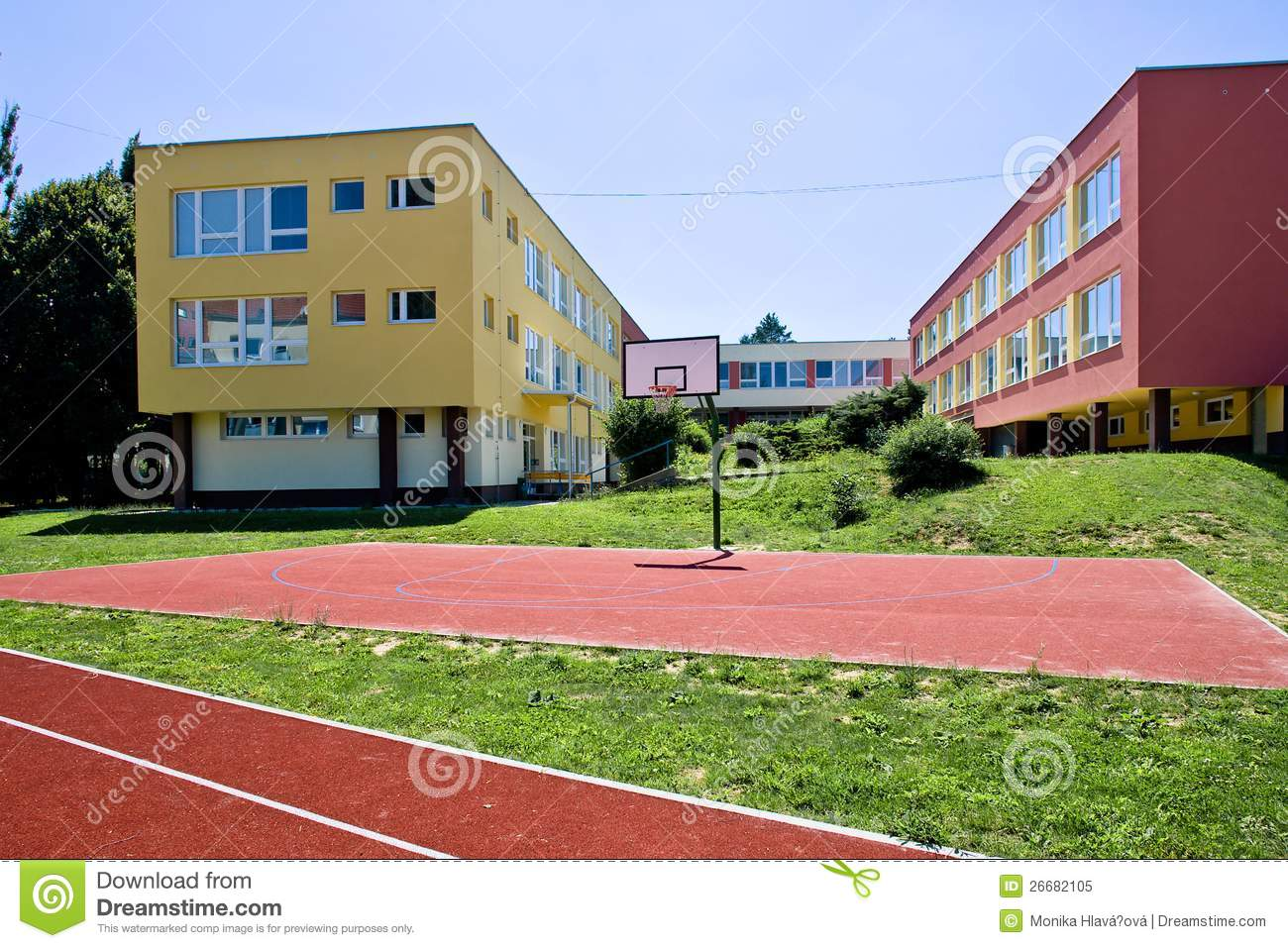 Colorful School Building Royalty Free Stock Photo Image 26682105