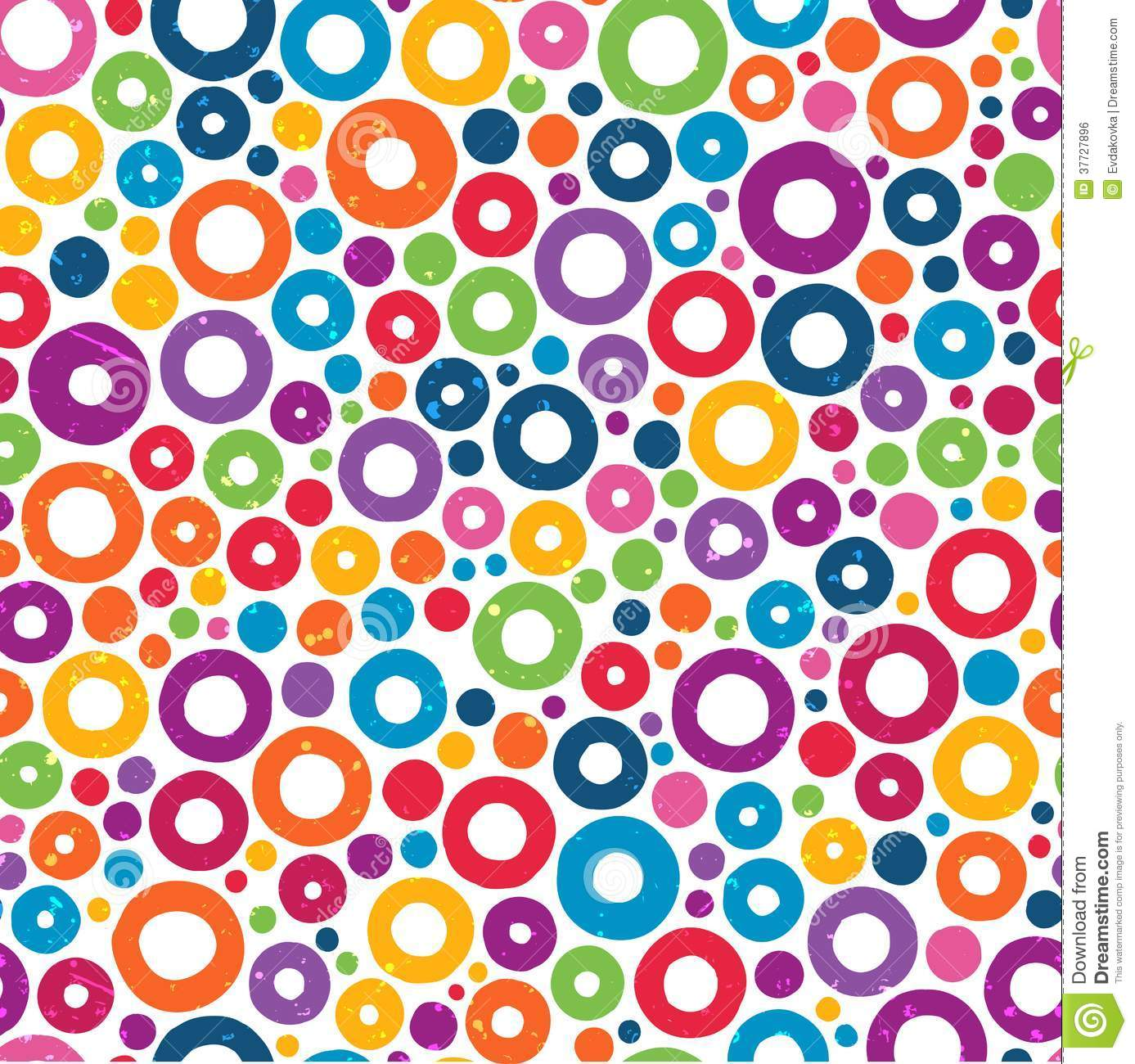 Colorful seamless pattern with hand drawn circles stock for Pictures of designs