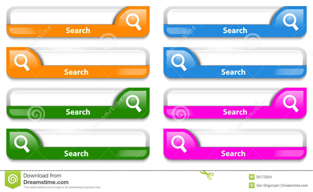 Colorful Search Bar Design Stock Images Image 30173354