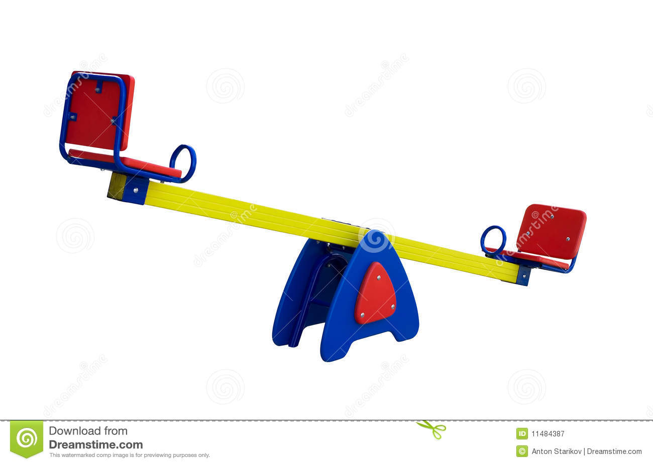 Colorful seesaw royalty free stock photography image for Seesaw plans designs