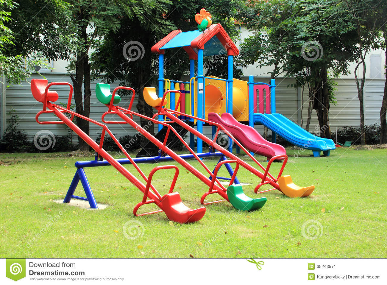 Colorful seesaw stock image image 35243571 for Seesaw plans designs