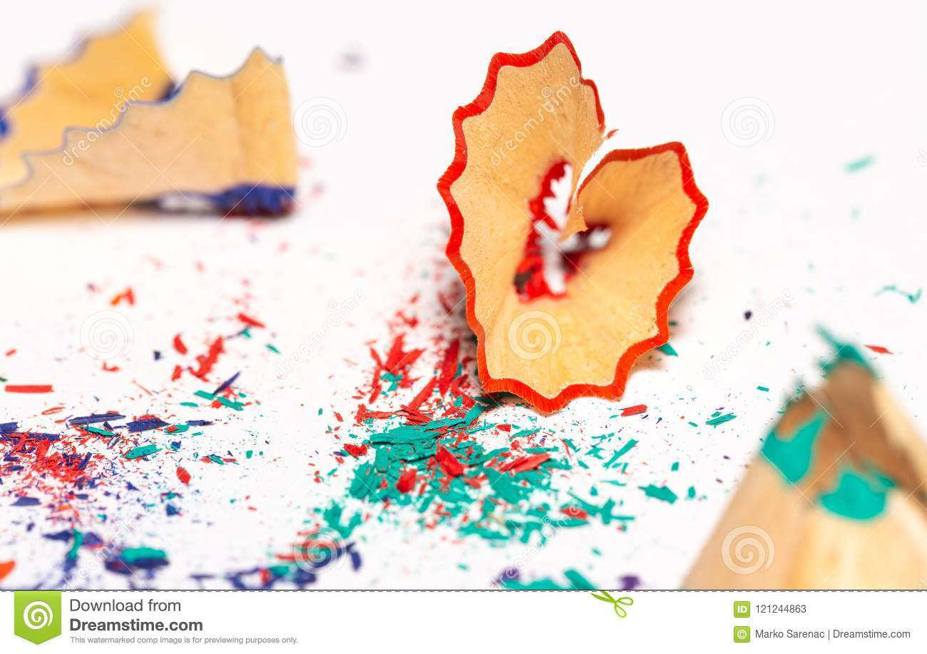 Colorful Shavings From Pencils 7