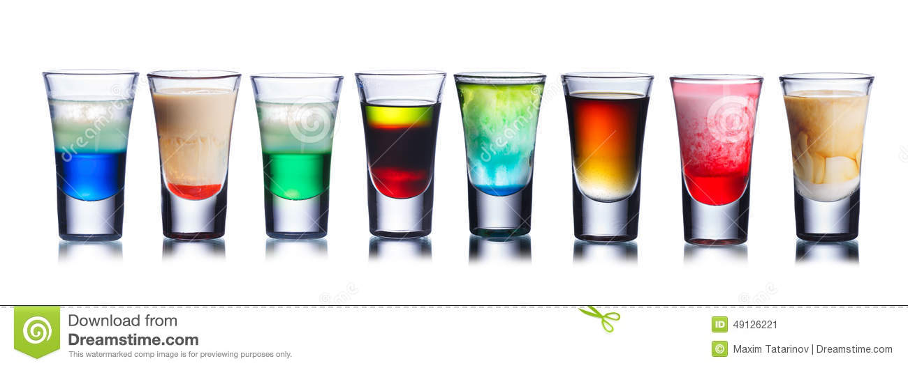 colorful shot drinks stock image image of drink close