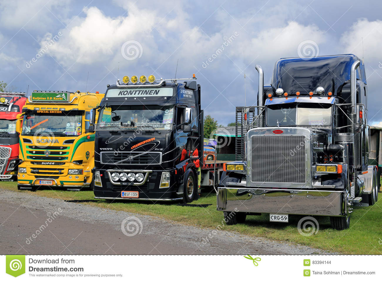 Colorful Show Trucks In A Row Editorial Stock Image Image