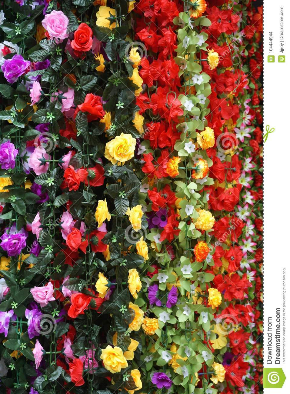 Colorful silk flower garlands for sale in hanoi vietnam market download colorful silk flower garlands for sale in hanoi vietnam market stock photo image mightylinksfo